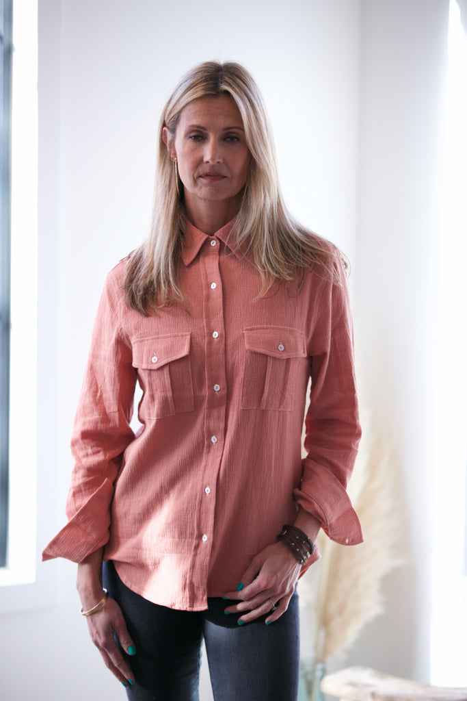 NYLAND Gauze Button Down