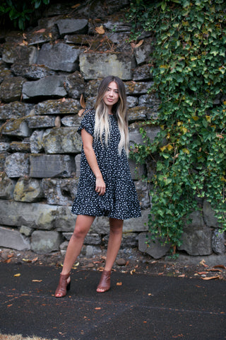 HOLIDAY Bohemian Print Surplice Dress