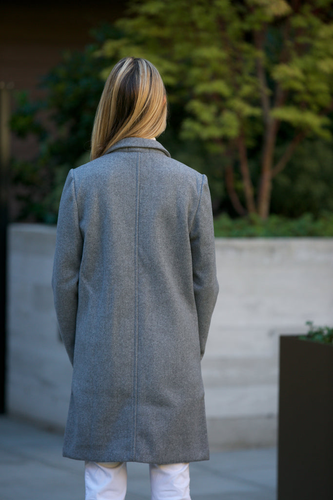 NYLAND Cardigan Coat Grey