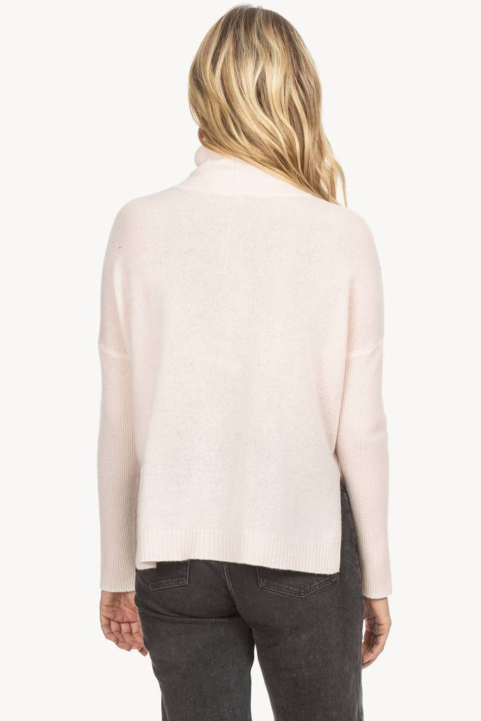 Lilla P Ribbed Sleeve Turtleneck Sweater
