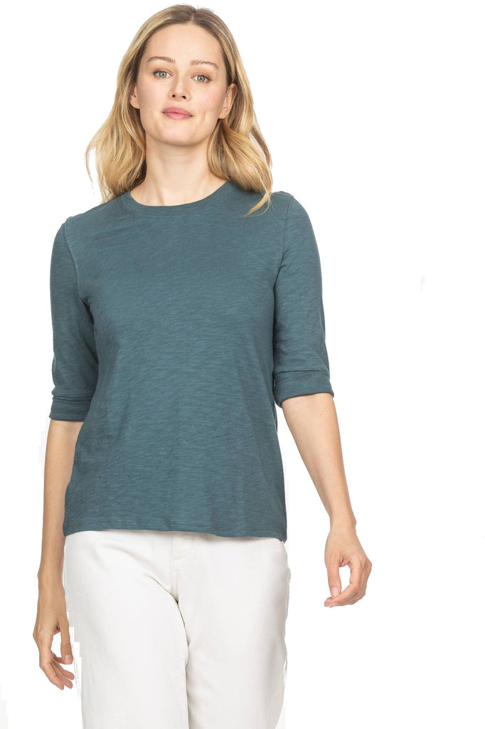 Lilla P Elbow Sleeve Crew Neck Pond