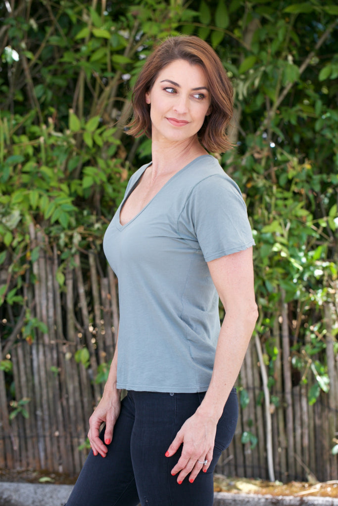PROJECT SOCIAL T The Softest V-Neck in Rosemary