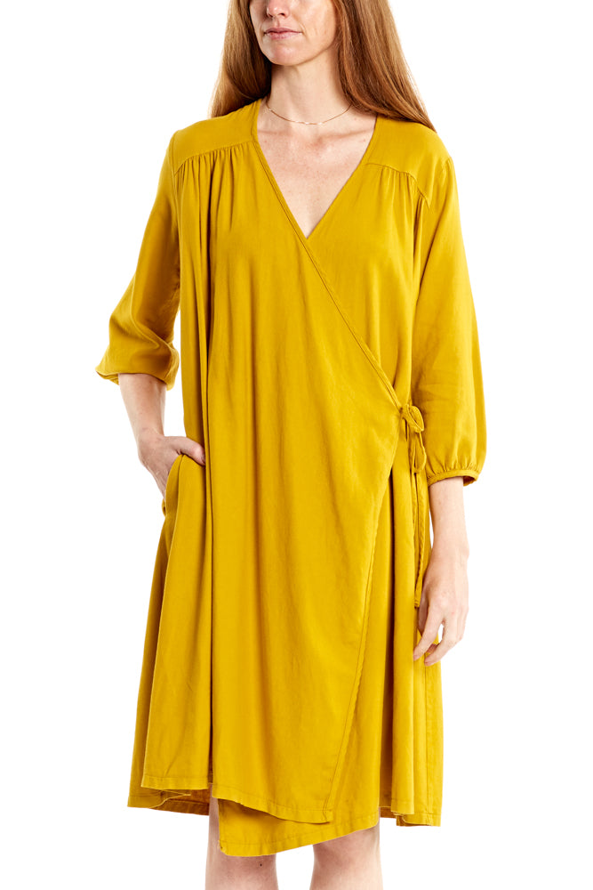 Prairie Underground Bloomsbury Dress in Mustard