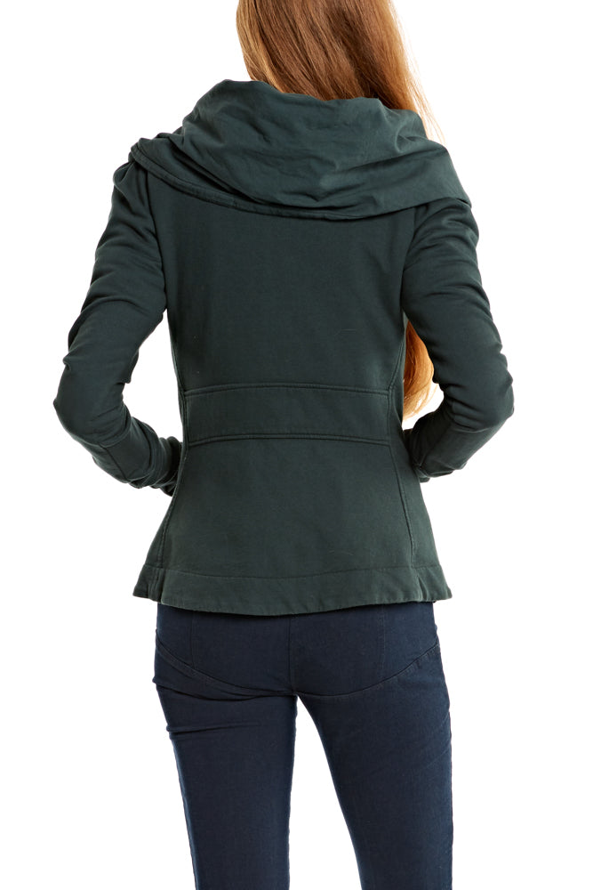 Prairie Underground Short Cloak Hoodie in Billiard