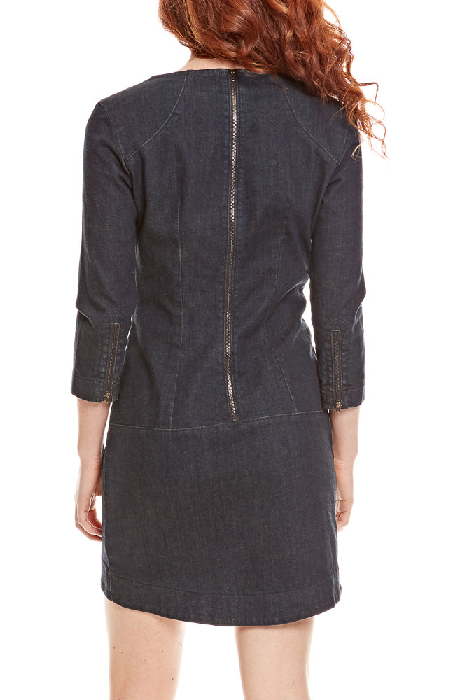 Prairie Underground Denim Minimalist Dress in Mechanic