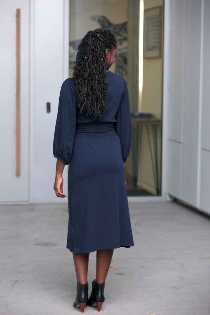People Tree Riona Dress Navy