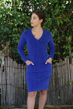 Prairie Underground Fuzzbox Dress Cobalt
