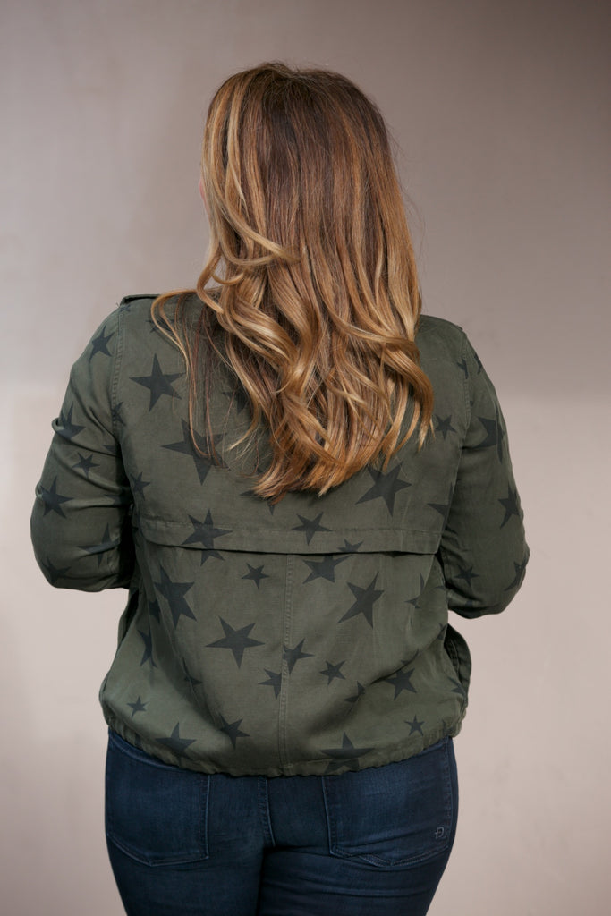 Rails Collins Jacket Sage with black stars