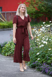 Rails Jet Jumpsuit Rust Spotted