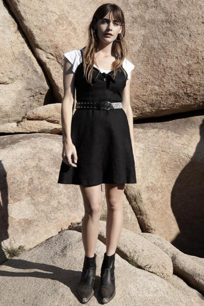 Sanctuary Take Away Tie Dress Black