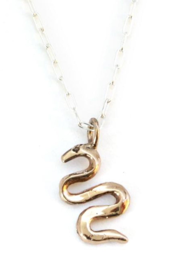 Upper Metal Class Serpent Necklace
