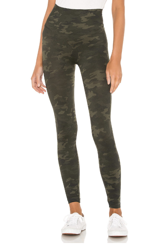 SPANX Look at Me Now Leggings in Green Camo Green Camo