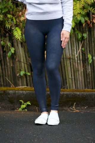 c265e086b42aa3 SPANX Faux Leather Leggings in Navy Night