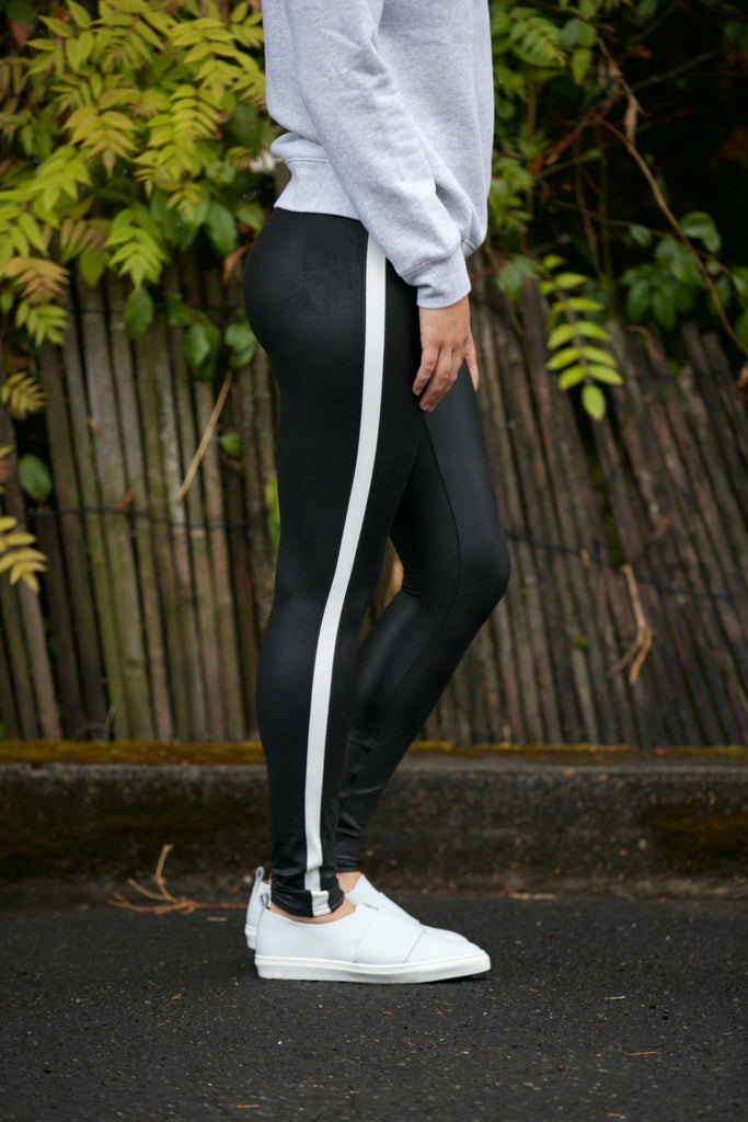SPANX Faux Leather Stripe Legging