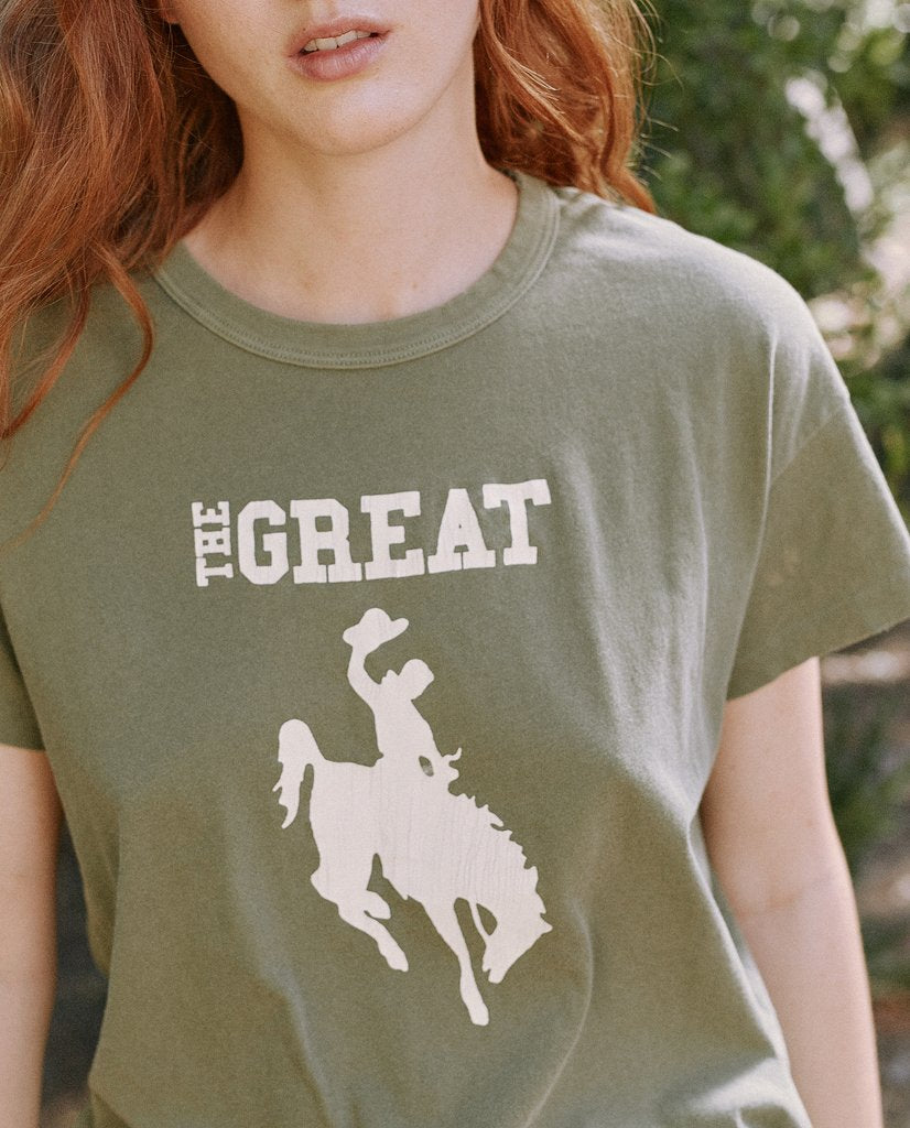 THE GREAT. The Boxy Crew Cowgirl Graphic