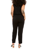 SARAH LILLER SF Penelope Easy Jersey Jumpsuit in Black