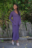 SARAH LILLER SF Margaux Dress Aubergine