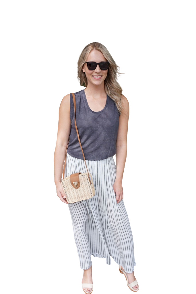 SARAH LILLER SF The Chloe Tee Steel Grey