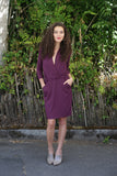SARAH LILLER SF Clara Dress Vineyard Wine