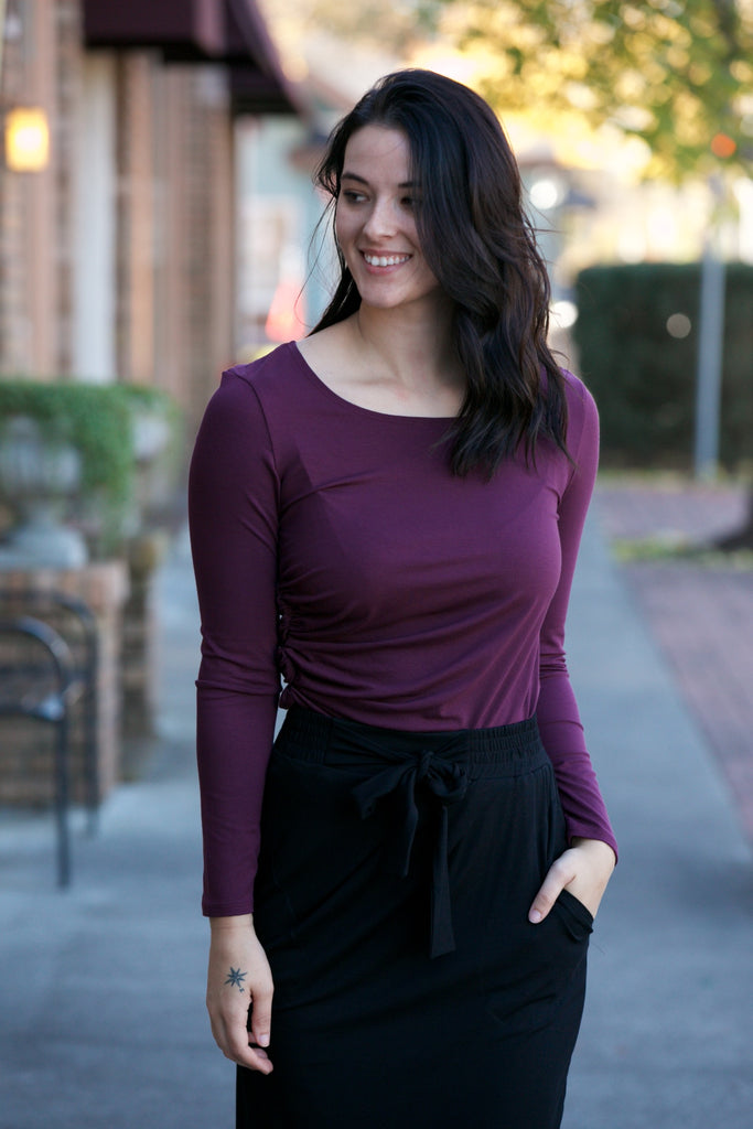 SARAH LILLER SF Ines Tunic Vineyard Wine