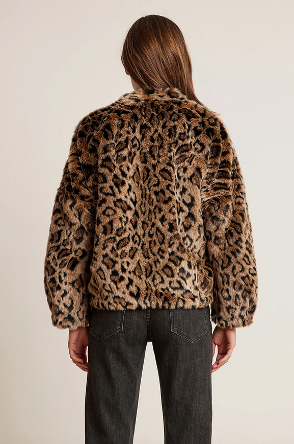 Velvet by Graham & Spencer Anne Lux Fur Jacket Leopard