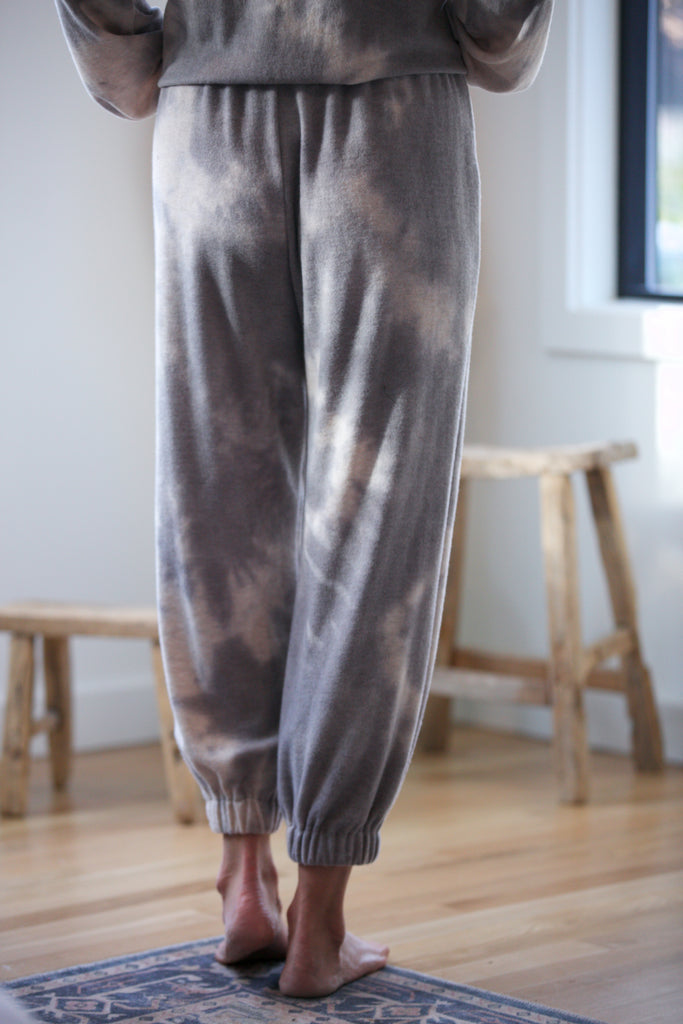Shine Brushed Knit Tie Dye Joggers