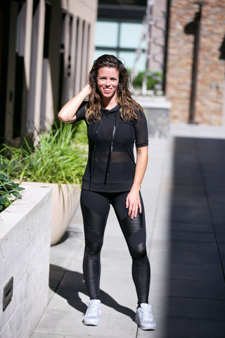 Dex Faux Leather Panel Legging