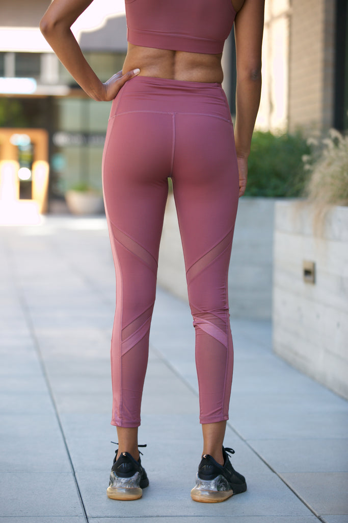 Shine Oxygen Diagonal Mesh Leggings