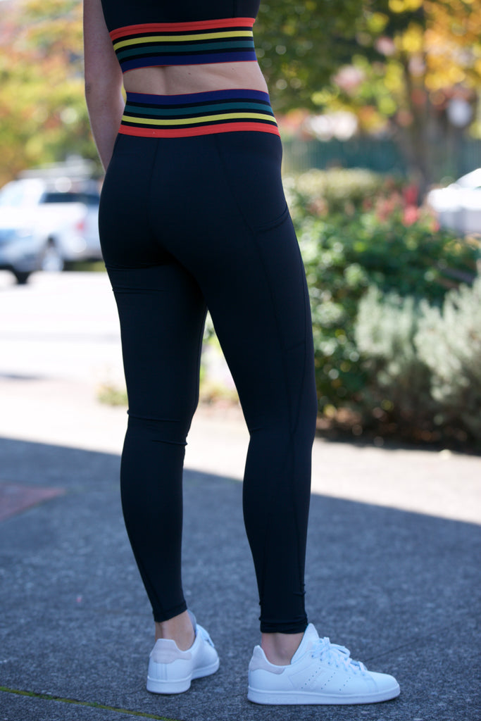 Shine Rainbow Band Leggings