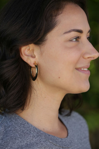 CHAN LUU Drop Earrings with Mystic Labradorite Stone