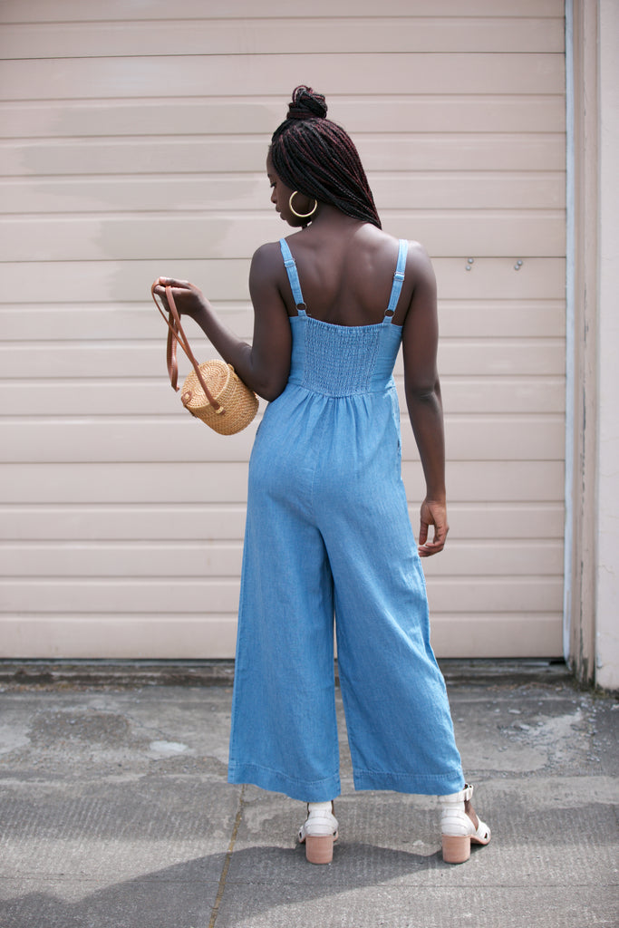 Splendid Luau Jumpsuit in Medium Light Indigo
