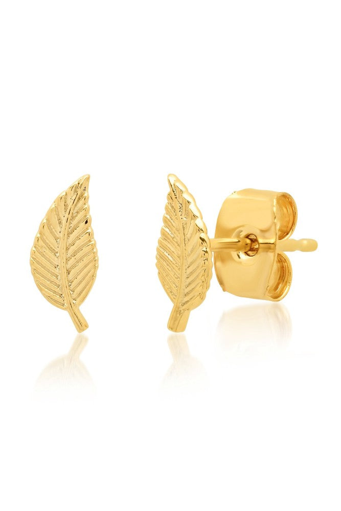 TAI Mini Leaf Stud Earrings