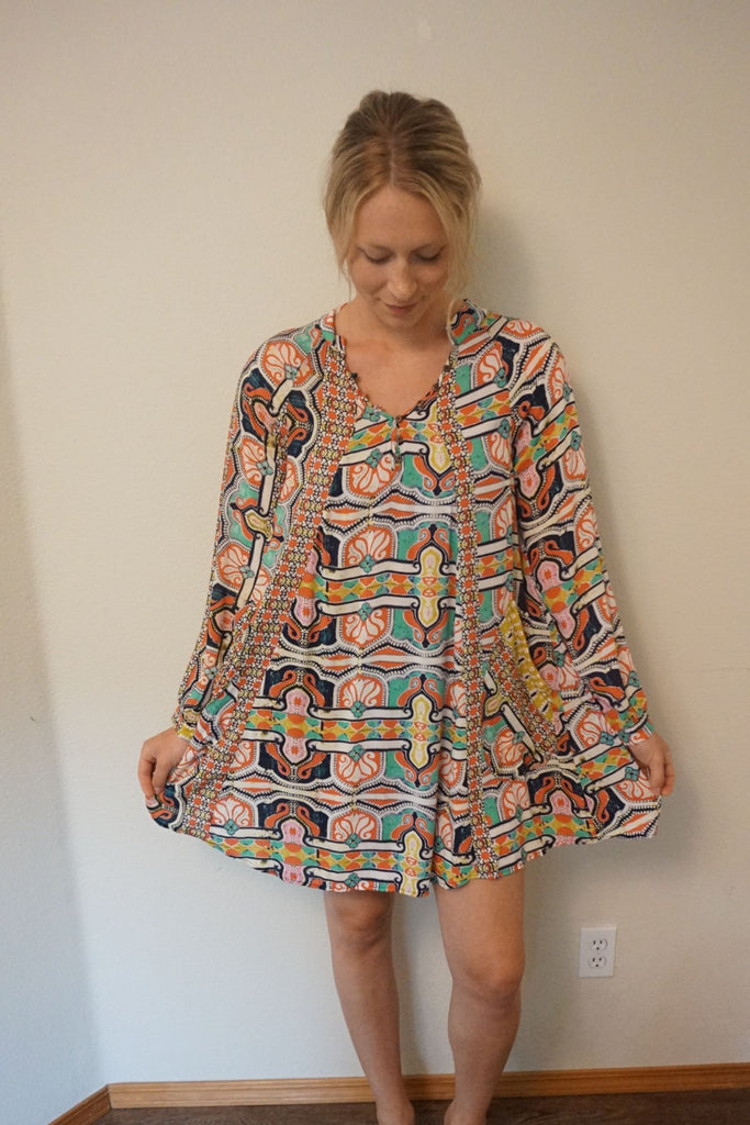 TYSA Nomad Mini Dress Printed Palace