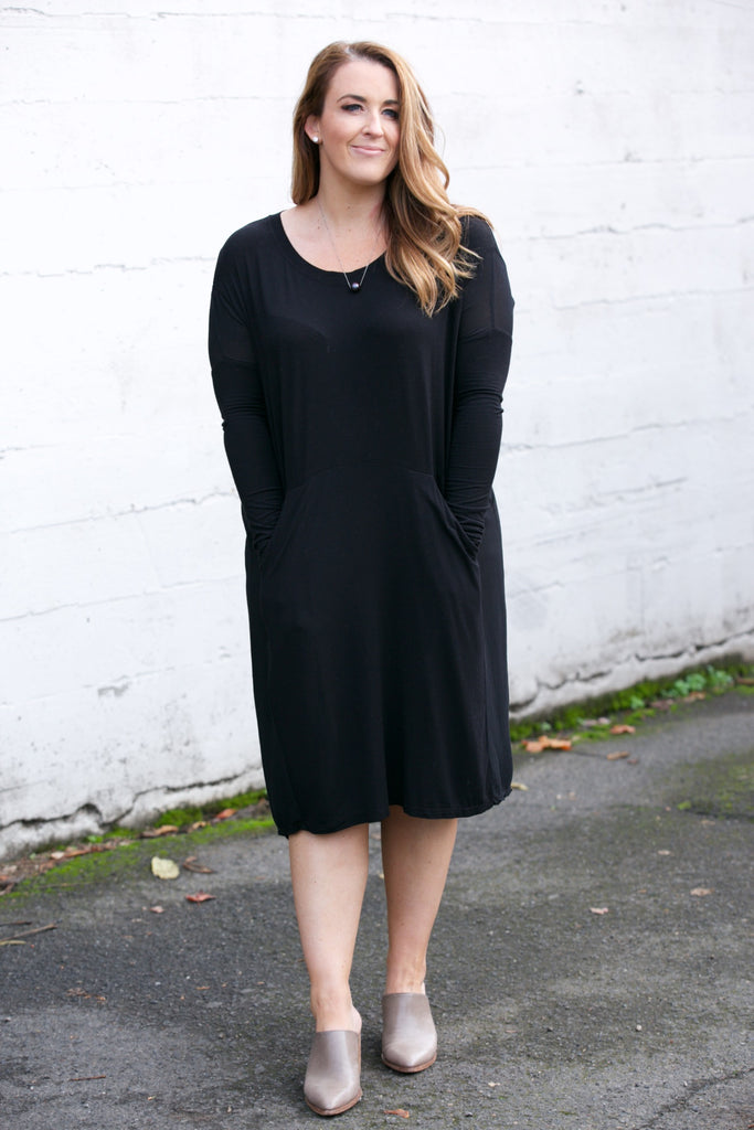 TINA + JO Solid Pocket Dress