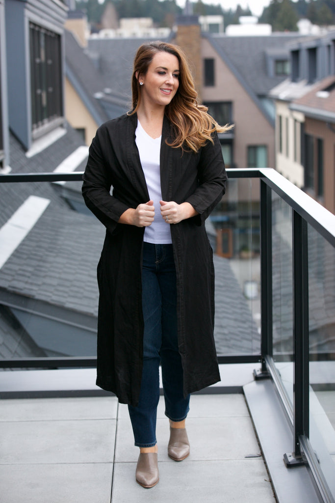 TINA + JO Trench Coat Black