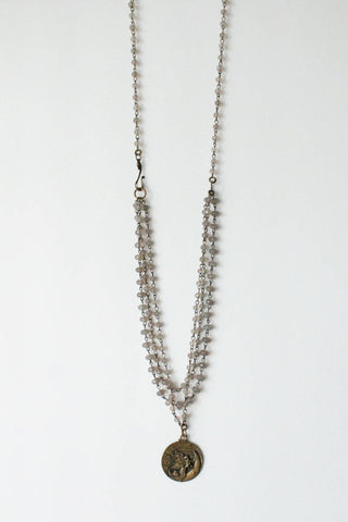 zoWEE Jewels Silver Chain Necklace w/ Coin