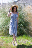 Birds of Paradis by Trovata Adele Sundress Navy Stripe