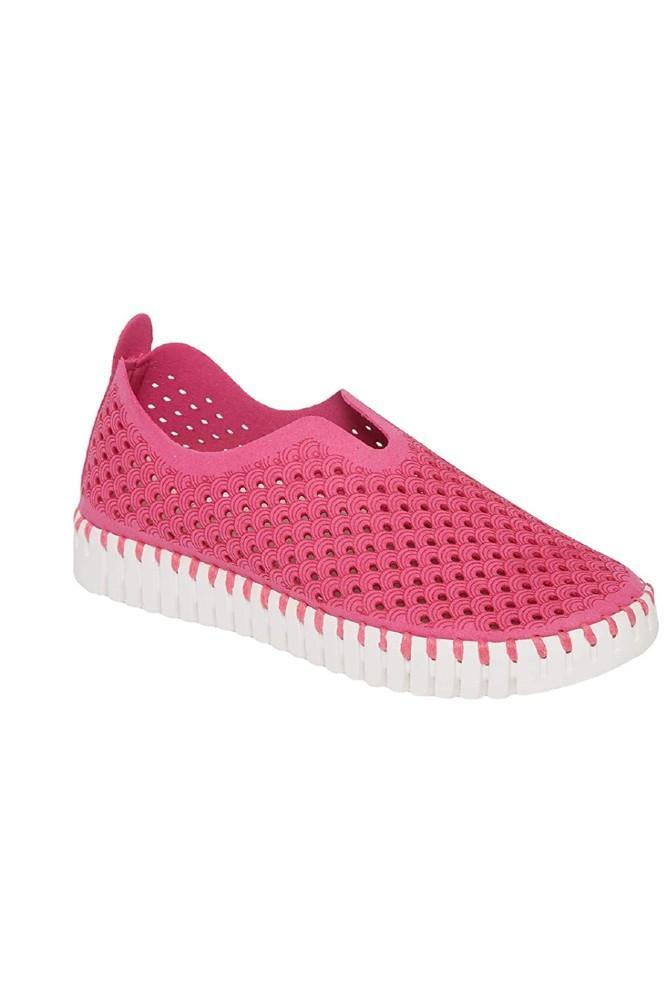 Ilse Jacobsen Tulip Slip-On w/White Sole Rose Violet
