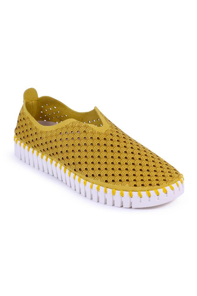 Ilse Jacobsen Tulip Slip-On w/White Sole Golden Rod