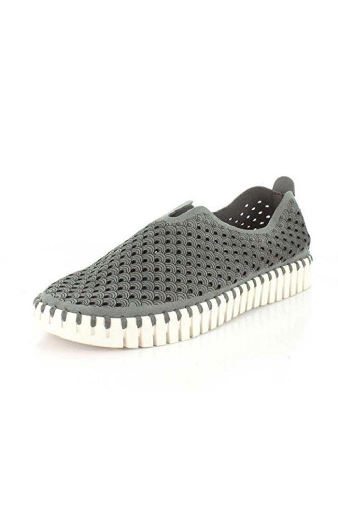 Ilse Jacobsen Tulip Slip-On w/White Sole Grey