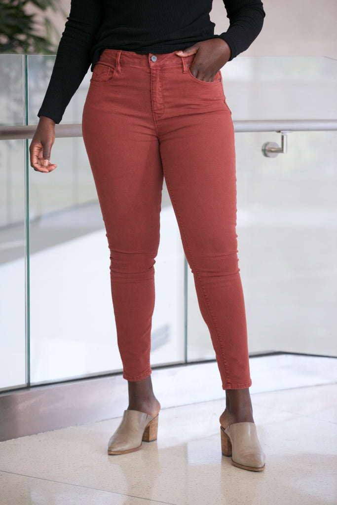 Unpublished Olivia High Rise Skinny Chestnut