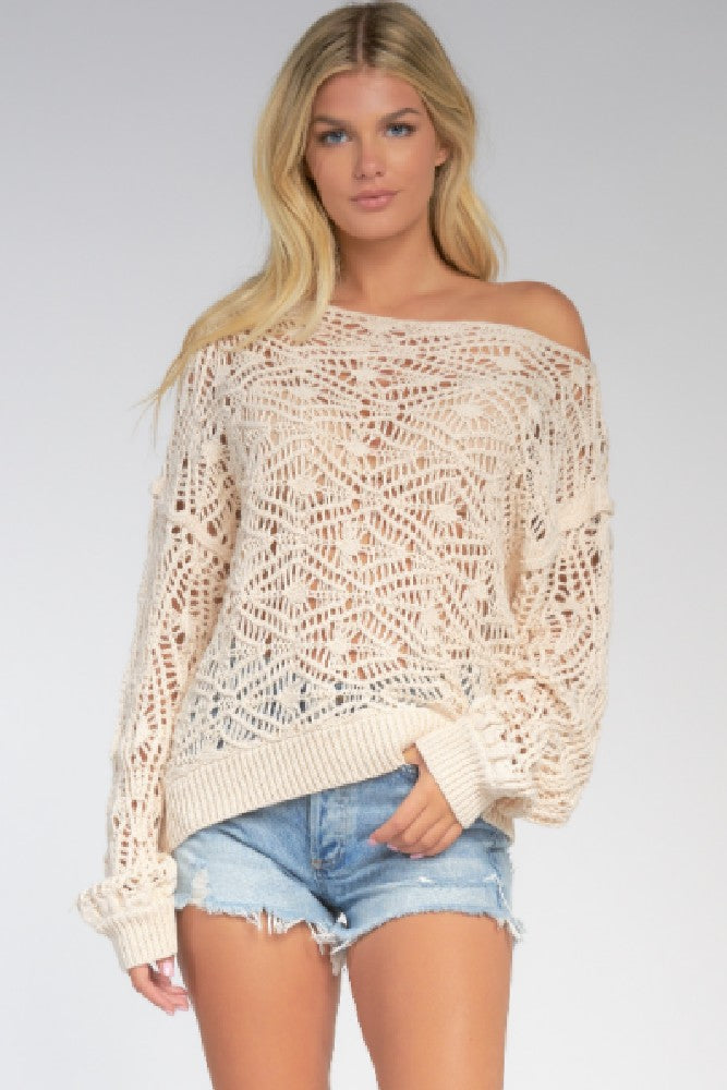 Elan Toni Knit Sweater Cream