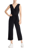 Velvet by Graham & Spencer Micah Tie Front Jumpsuit Black