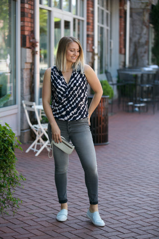 SARAH LILLER SF The Lela Wrap Top