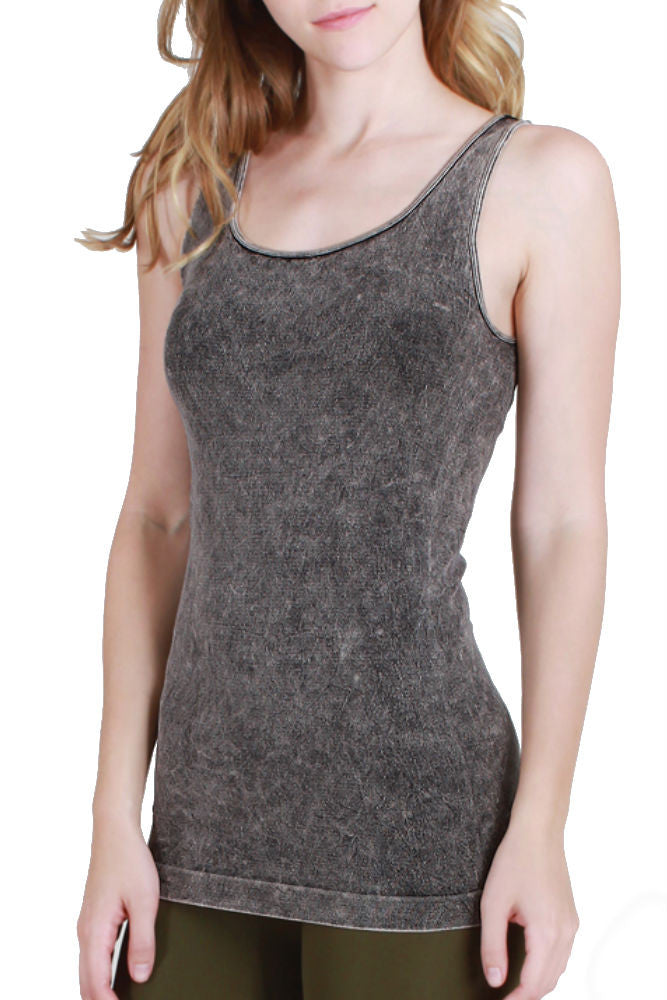 Niki Biki Vintage Modal Top in Charcoal
