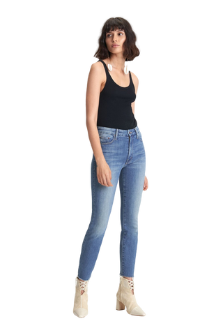 Citizens of Humanity Rocket Crop Mid Rise Skinny in Thrill