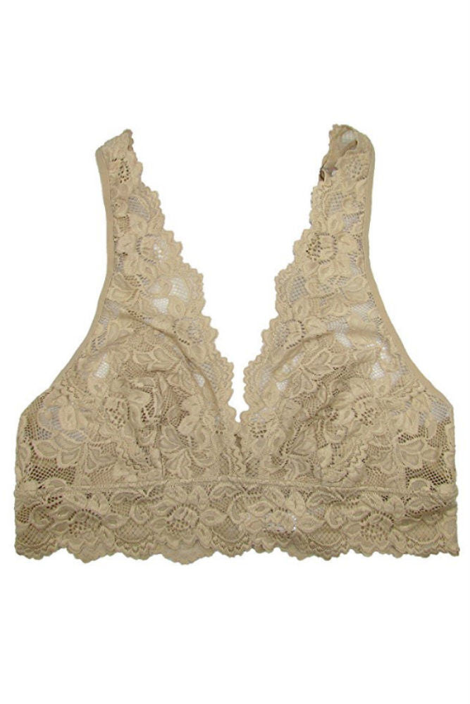Undie Couture Wide Strap Lace Bralette in Nude