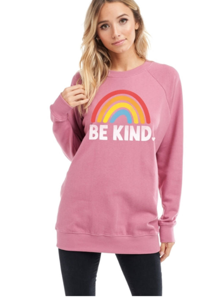 ADORN Be Kind Sweatshirt Mauve