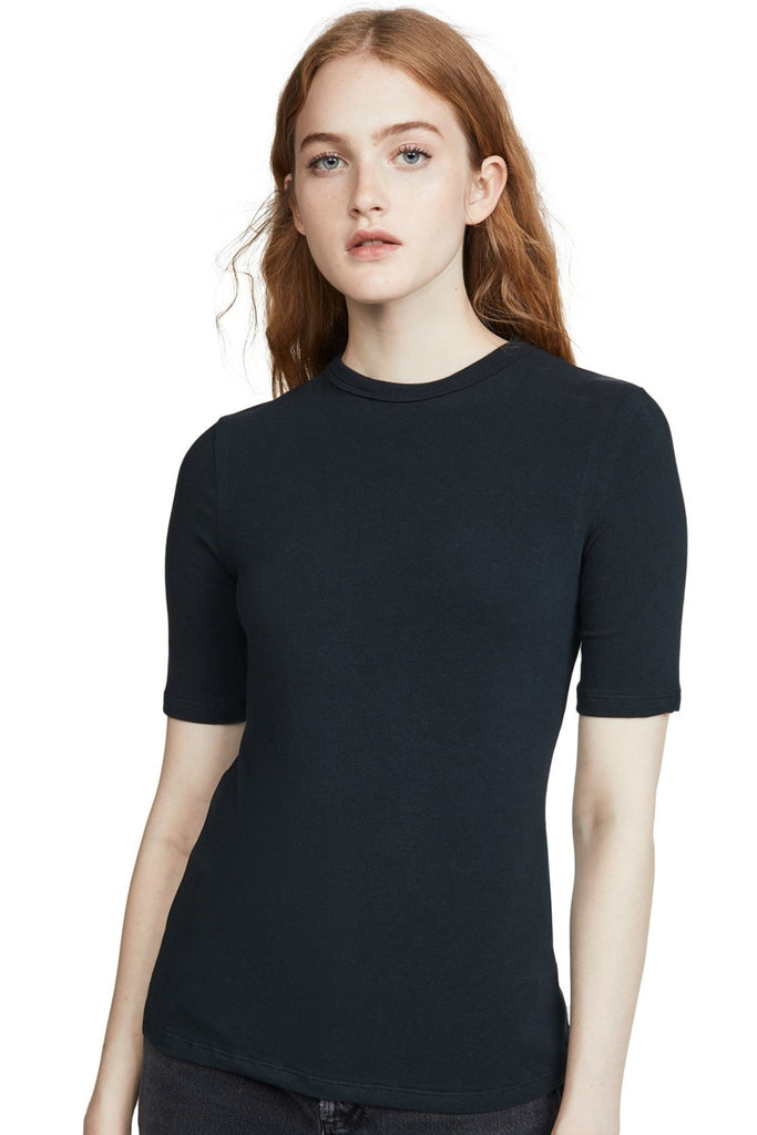 AGOLDE Elie Mid Length Sleeve Fitted Tee Nocturne
