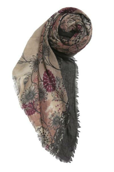 Subtle Luxury Antique Floral Scarf in Mauve